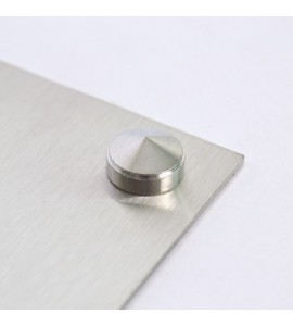 Fixation chrome pour plaque professionnelle
