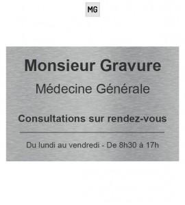 Plaque medecin inox brossé