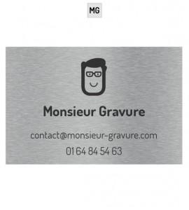 Plaque professionnelle inox brossé avec logo personnalisé