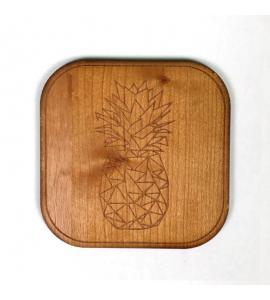 Dessous de verre bois Ananas