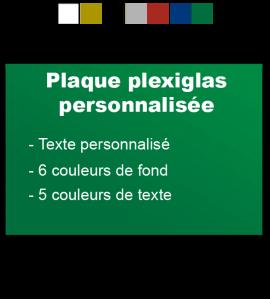 Plaque plexiglas personnalisée 30x20cm