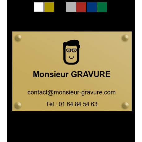 Plaque professionnelle plexiglas avec logo personnalisé