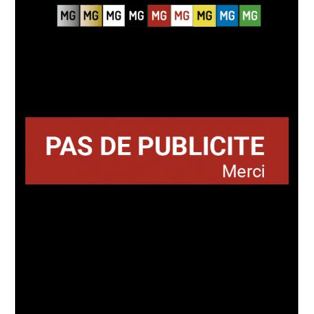 """Plaque """"Pas de pub"""""""