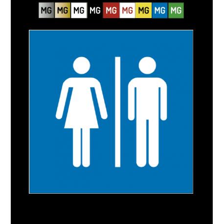 plaque de porte pictogramme toilettes
