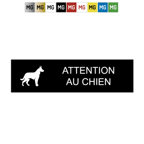 "Plaque ""ATTENTION AU CHIEN"""