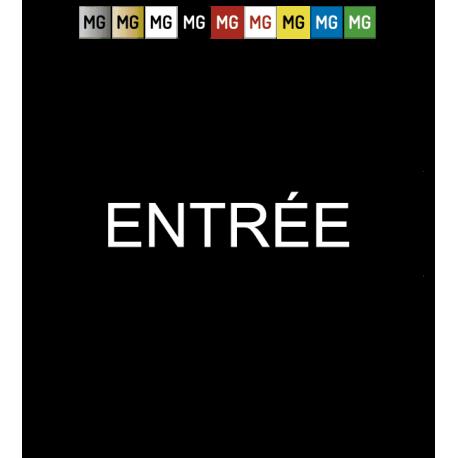 """Plaque plastique """"ENTRÉE"""""""