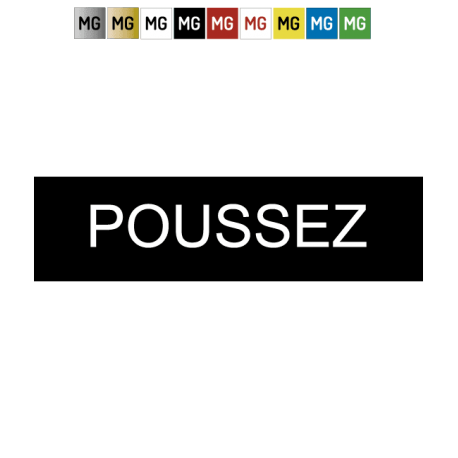 """Plaque plastique """"POUSSEZ"""""""