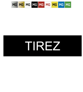 "Plaque plastique ""TIREZ"""