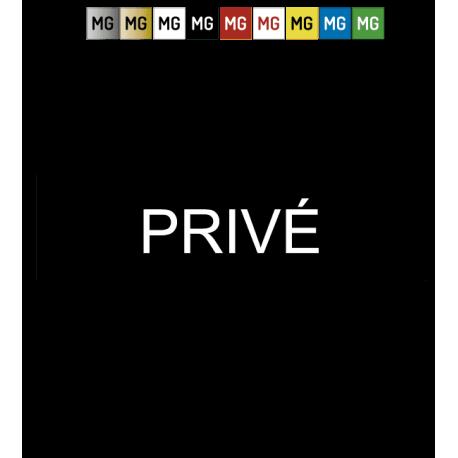"""Plaque plastique """"PRIVE"""""""