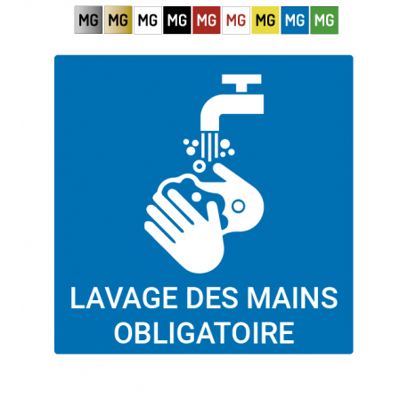 "Plaque ""Lavage de mains obligatoire"""