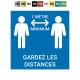"""Plaque """"distance 1m"""""""