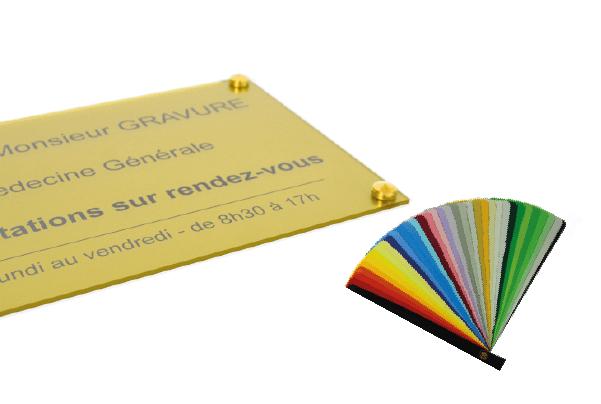 choix couleurs plaque professionnelle