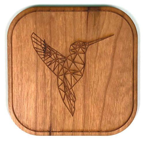 dessous de verre bois colibri