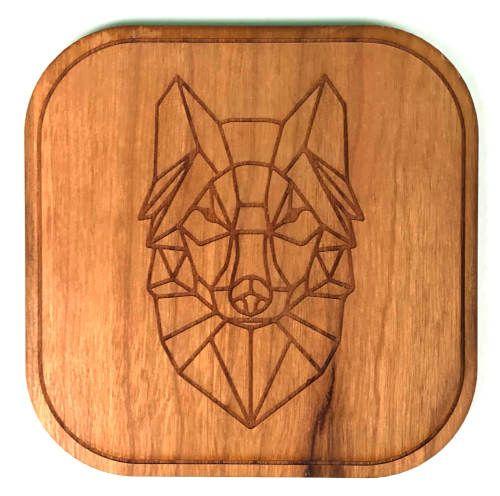 dessous de verre bois loup