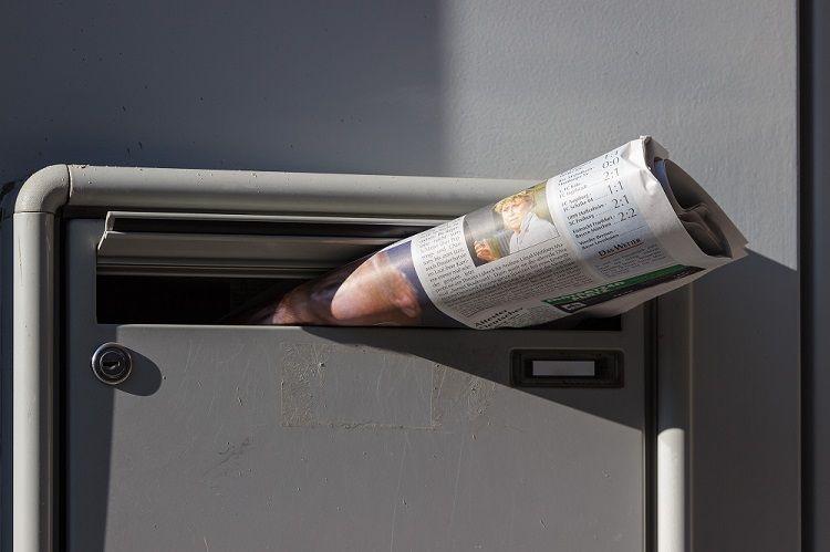 etiquette boite aux lettres arrachée