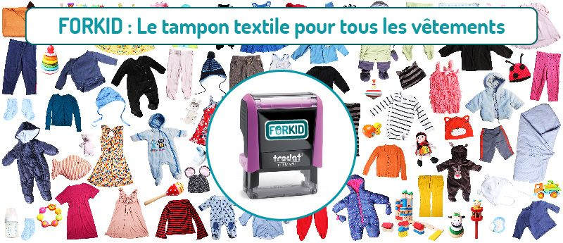 tampon textile FORKID
